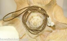 2mm Carved Pendants Khaki Tan Replacement Cord Cordage Buffalo Bone Necklace 30""