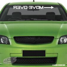 Move Over Reverse Arrow Windshield Sticker Decal Vinyl Windscreen #AWTOP042LS