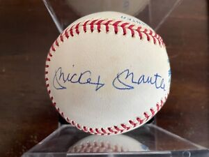 Mickey Mantle Joe DiMaggio Ted Williams Autographed Signed MLB AL Baseball