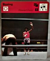 "Howard Davis 1978 Pro Boxing Sportscaster 6.25"" Card 28-15 Gold Medal Kayo Kid"