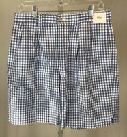 Men's Polo Ralph Lauren Tyler Short 33 Cotton Blue & White Checkerboard Plaid
