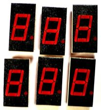 "DISPLAY LED 7-SEGMENT RED 0.4"" RH-Decimal - MAN4710A - *UNUSED* *NOS* - Qty:6"