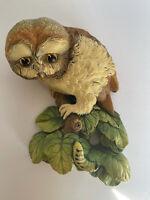 VINTAGE BOSSONS Chalkware OWL, CONGLETON ENGLAND - Wall Hanging Decor