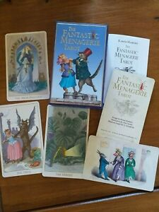 The Fantastic Menagerie Tarot Baba Studios Deck OOP Sold Out Cold Stamped