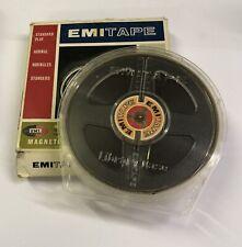 "Utiliza 4"" EMI carrete a carrete de cinta de grabación magnética SP & Almeja caso Emi Caja Original"