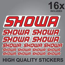 16x SHOWA SPONSOR STICKERS DECALS GRAPHICS VINYL STICKER SHEET