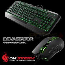 CM Storm Devastator - Green LED Backlight Gaming Keyboard and Mouse Combo Bundle