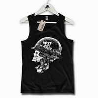 TANK TOP - MEAT IS MURDER - vegan Vegetraier Veganer Skull Gr. S M L XL XXL