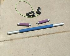 THE FIRM Body Sculpting Stick 3-in-1 System 3 Piece Bar Barbell Weight Jump Rope