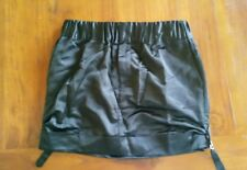Club Monaco black satin feel lined skirt sz2 preowned excellent free post D37