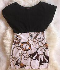 Motel Mini Dress Size S  Black  Multi Color 100% Cotton