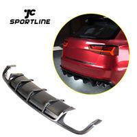 Fit For Audi A6 S-LINE S6 15-18 Rear Bumper Diffuser Body Kit Carbon Fiber