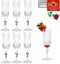 Set of 6 RCR Opera Luxion Crystal Champagne Flutes 25609020006 –Same Day Ship
