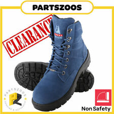 Leather Steel Blue Occupational Shoes for Men