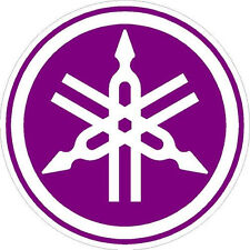 "#P140 6"" Yamaha Logo Motorcycle Drum Snowmobile decal sticker Purple"
