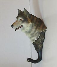 Wolf Head Wall Hanger - Hook - Realistic