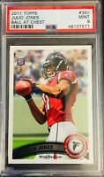"PSA 9/ MINT! 2011 Topps JULIO JONES ""Ball At Chest"" Rookie Card #350! FALCONS"