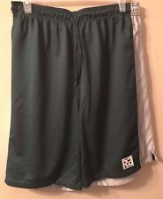 Mens Athletic Shorts Gym Basketball Running Xl Green White