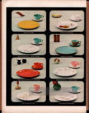 Vintage '57 Melamine Council Dinner Ware Ad, Pics 11 Designs, Wright, Boonton +