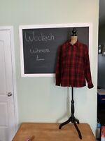 WOOLRICH Full Zip Red/Black Hunt Plaid Wool Jacket Womens L EUC