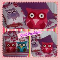 Owl Cushion Knitting Pattern