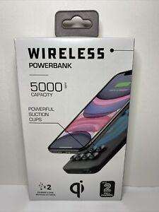 Qi Wireless Powerbank 5000mAH w/Suction Cups, Black (20WMS005-BLK)