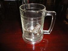 WINSTON CUP EAGLE NASCAR 3D Heavy Glass Mug Barware Racing VERY Collectible