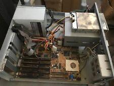 Vintage AT DESKTOP TOWER Computer Case Build 486 IBM PC DOS WIN W3 w/ many parts