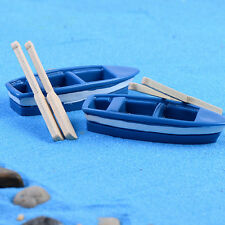 2 Sets Boat Miniature Figurine Garden Ornament Plant Fairy Decor Bonsai Craft LJ