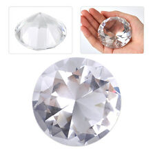 60mm Clear Crystal Glass Cut Giant Diamond Jewelry Paperweight Wedding Deco Gift