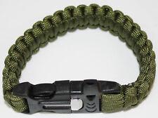Highlander Paracord Armband mit Feueranzünder und Notfallpfeife CS197 Grün