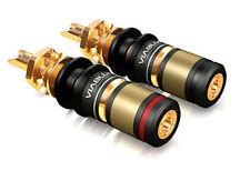 2 Stück Viablue T6s / HighEnd Polklemmen / für Lautsprecher und Verstärker