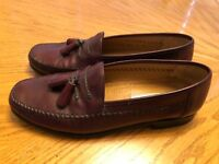 Sandro Moscoloni Leather Tassel Loafers La Vida Brown 9.5