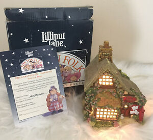 Vintage Lilliput Lane Foxton Folk By Kay Baker Village Post 887 Illuminated 1995