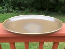 """Russel Wright Iroquois Numeg Brown 14"""" Oval Platter"""