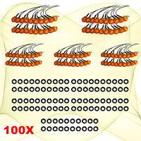 """100 Mini 12V Amber 3/4"""" Round Side 3 LED Marker Car Trailer Bullet License Light"""
