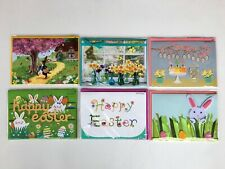 PAPYRUS Greeting Cards Easter Lot of 6 Bunnies, Eggs, Butterfly Charm & Gems