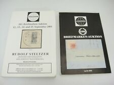 Steltzer German Stamp Auction Catalogs Lot of 2 September 2001 November 1983