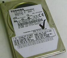 60GB Toshiba MK6026GAX Laptop IDE Hard Drive HDD2194 C ZK01 T