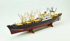 """American Scout C-2 Cargo Ship Wooden Ship Model 50"""" RC Convertible with lights"""