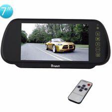 """7"""" Zoll Auto Bildschirm KFZ Monitor/ Rückspiegel LCD für Rückfahrkamera DC12-24V"""