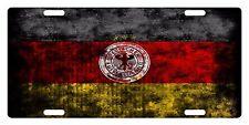 GERMANY Flag Custom License Plate GERMAN Emblem Deutschland  Version # 1