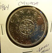 Silver Canada 1964 Dollar Unc