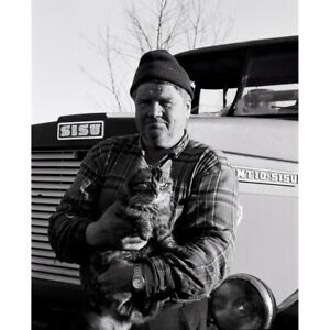 Original signed photograph 'Farmer and his cat', 2002 limited edition print