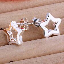 ASAMO Damen Ohrstecker Stern Ohrringe 925 Sterling Silber plattiert O1107