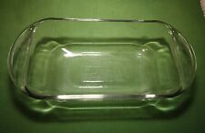 """Vintage ANCHOR HOCKING Ovenware Clear Glass LOAF DISH 1 1/2 Quart   9"""" x 5"""" x 3"""""""
