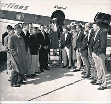 Original 1954 U of Kentucky Basketball Photo Team Returns Home Undefeated Season