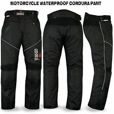 Motorbike Motorcycle Waterproof Cordura Textile Trousers Pants Armours Black 42