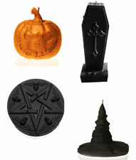 Halloween Gothic Candle Pumpkin Pentagram Coffin Witches Hat Party Decor Gift