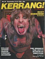 KERRANG! #24 SEP 1982: OZZY OSBOURNE Pete Way EDDIE CLARKE Krokus IAN GILLAN